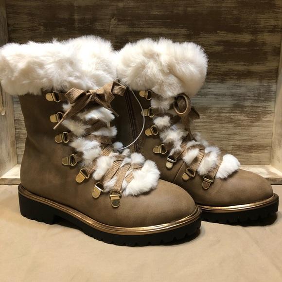 7748661df2d a new day Shoes - Women s Neveah Faux Fur Lace Up Boots